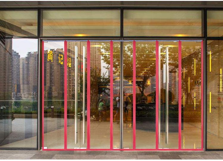 Magnetic soft screen door pvc